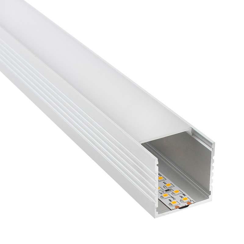 Perfil aluminio VART para tiras LED, 2 metros